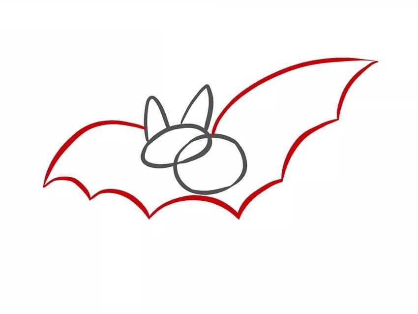 Как нарисовать летучую мышь для детей
