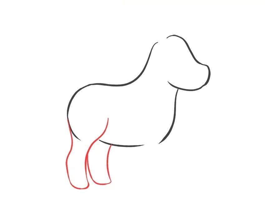 Как нарисовать мультяшную зебру для детей